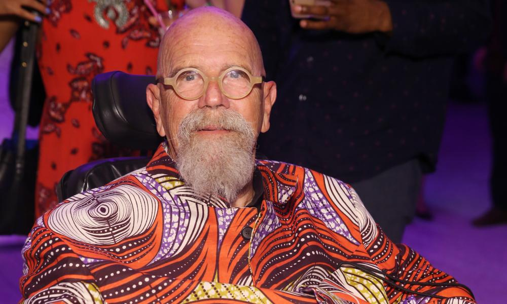 Chuck Close attends a music event in Miami, Florida