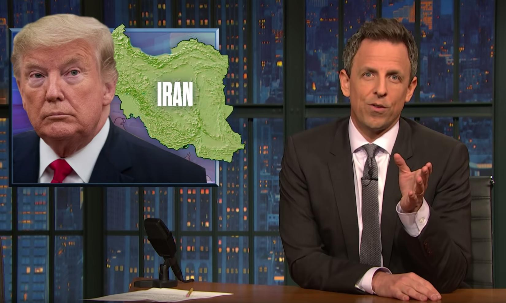 Seth Meyers on Trump's justification for Iran hit: 'We've been through this before'