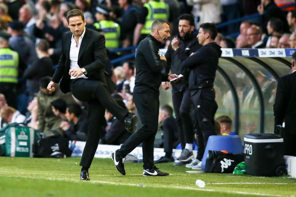 The gaffer also celebrates by taking out on a water bottle.