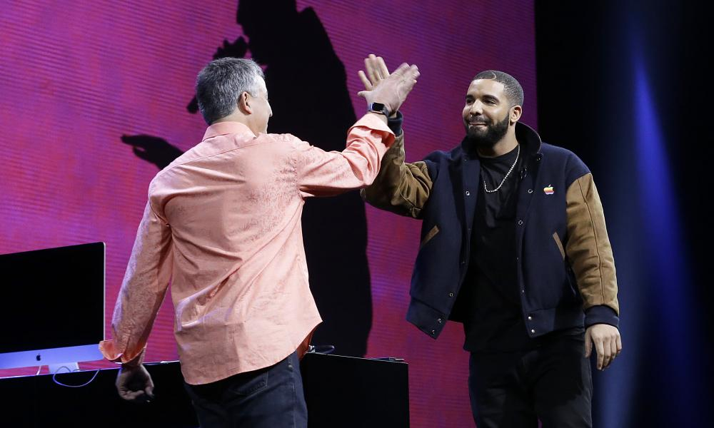 Drake appeared at the original Apple Music launch.