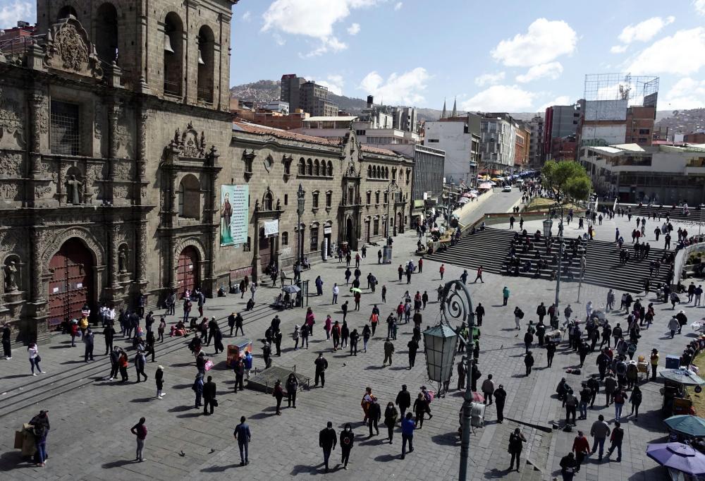 Plaza San Francisco in La Paz, Bolivia