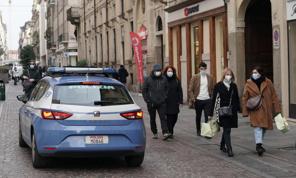 Daily life in Turin, as COVID-19 restrictions came down in many parts of Italy, with most of the country now a yellow zone, meaning the risk of contagion is considered moderate, 01 February 2021. EPA/Tino Romano