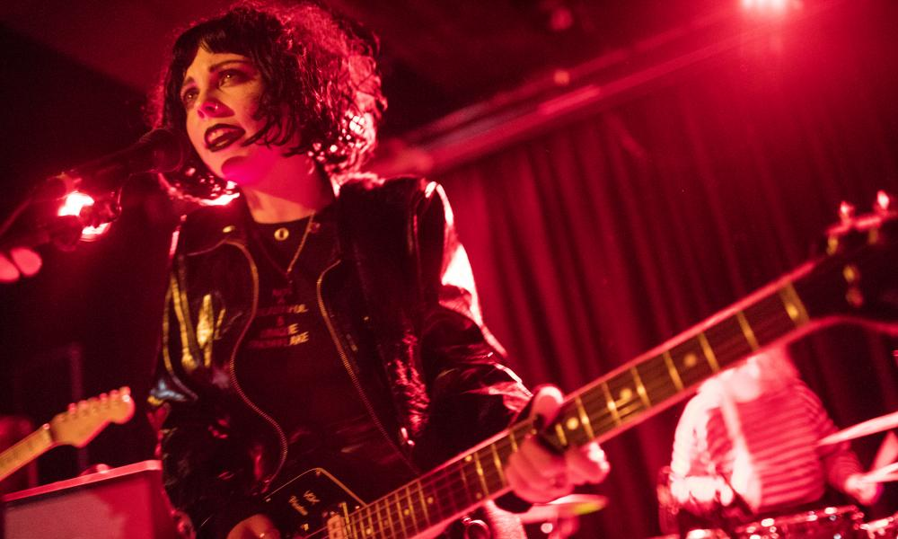Heather Baron-Gracie, singer and guitarist of Pale Waves performs at The Lexington in London.