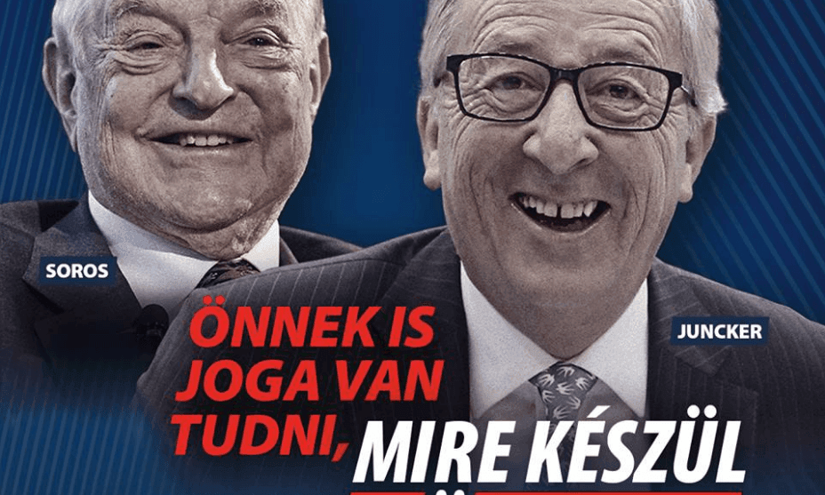 Brussels accuses Orbán of peddling conspiracy theory with Juncker poster