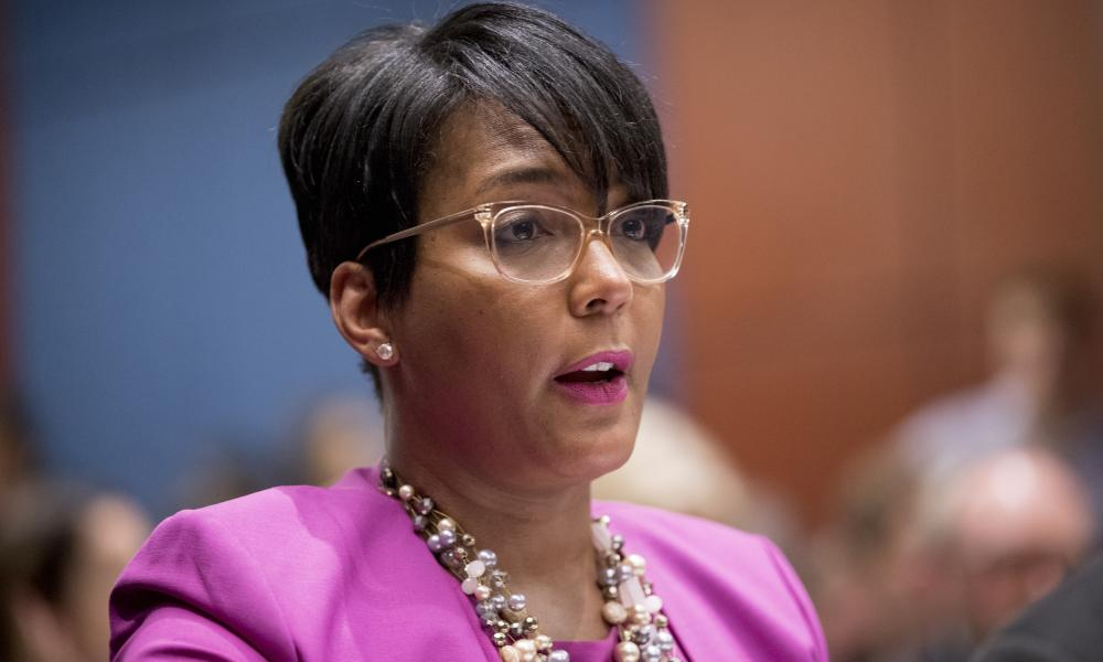 Keisha Lance Bottoms testifying to Congress about the climate crisis in Washington last year.