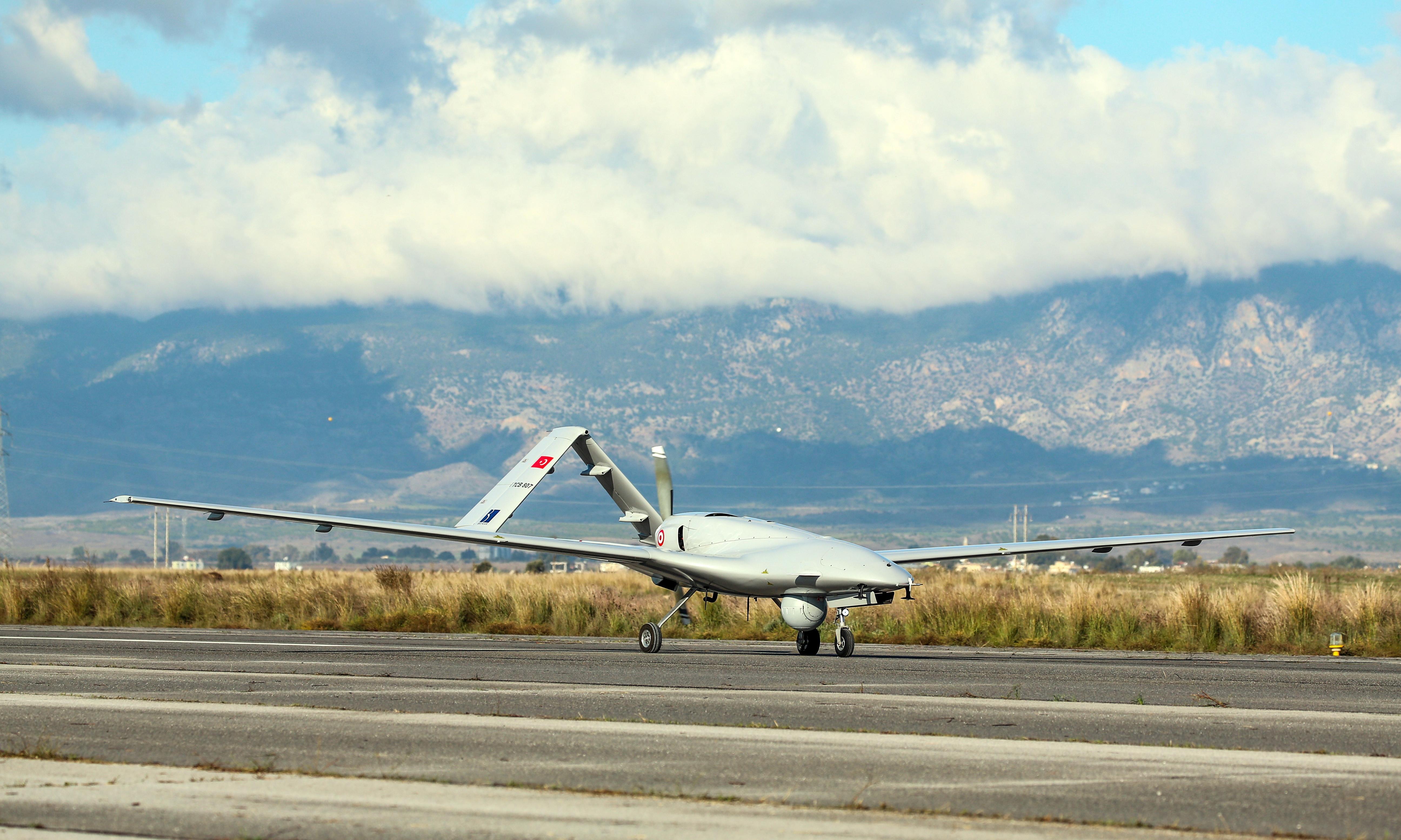 Armed Turkish drone lands in Cyprus as regional tensions rise