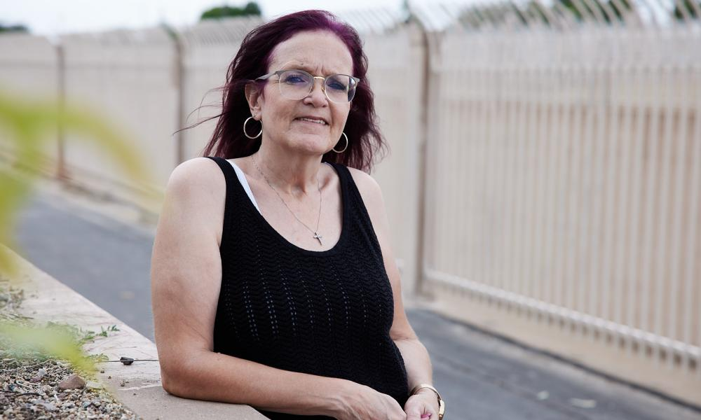 Tina Phalen was able to apply for food stamps in Arizona after her release but is required to be drug tested.