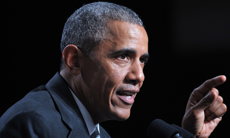 Obama says presidents should avoid social media in apparent Trump jab