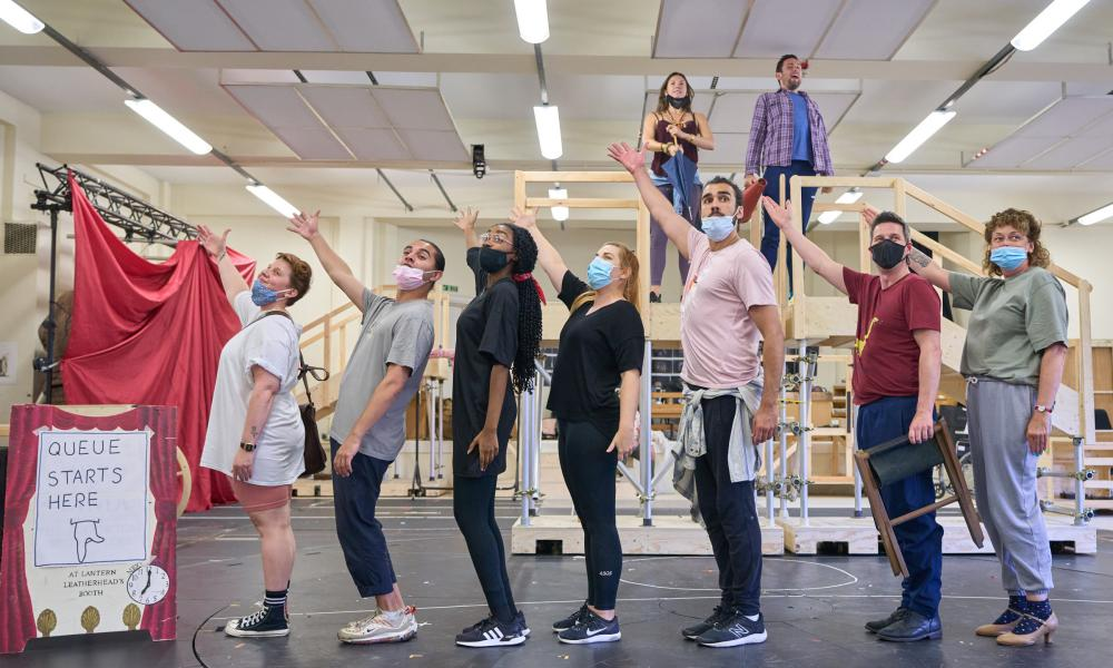 'I'm absolutely ready' … The Magician's Elephant rehearsals at the RSC Stratford, September 2021.