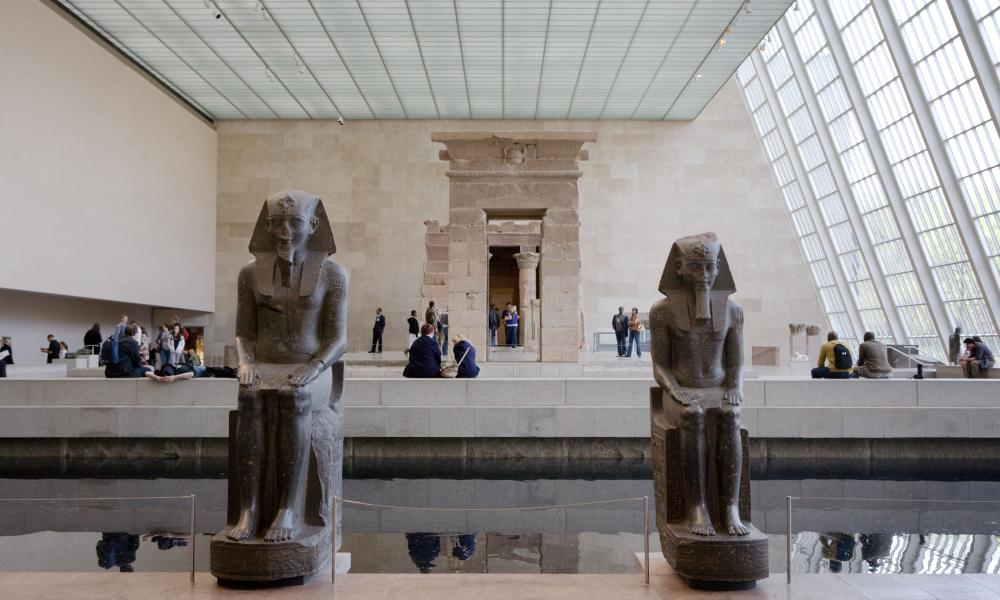 Temple of Dendur Egyptian art at the Sackler Wing of the Metropolitan Museum of Art in New York City.