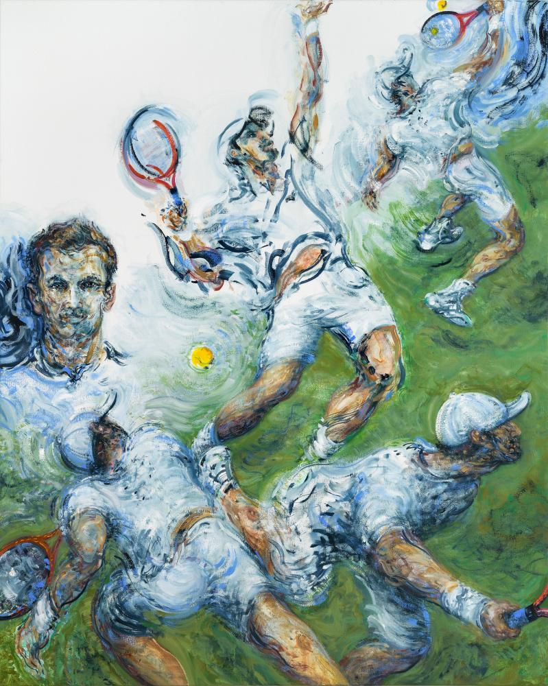 Andy Murray by Maggi Hambling, 2019. Oil on canvas.
