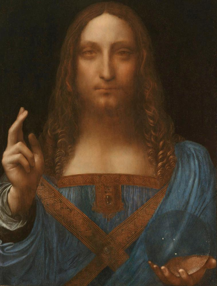 Salvator Mundi by Leonardo da Vinci.