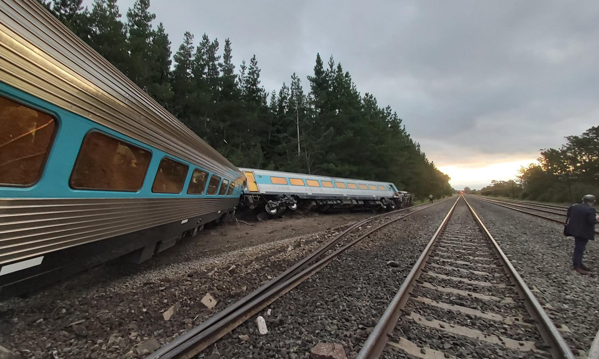 Two dead after Sydney to Melbourne XPT train derails in Victoria