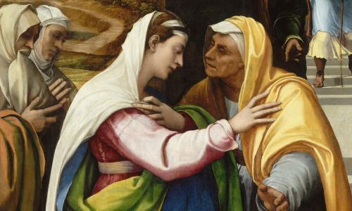 Sebastiano del Piombo, The Visitation (detail), 1518-19. Musée du Louvre, Département des Peintures, Paris (357)