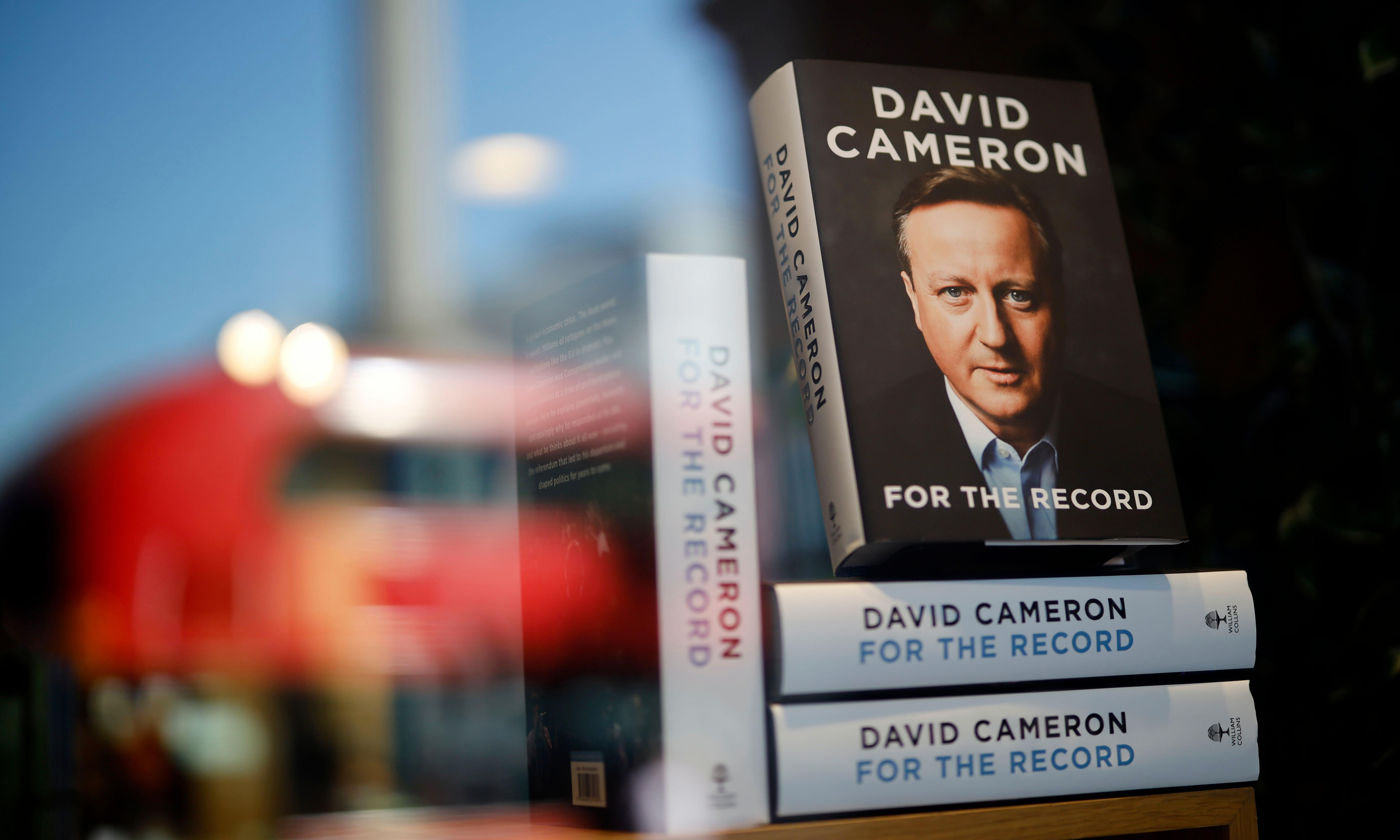 'Animals feared him': fake David Cameron memoir cover spotted in bookshop