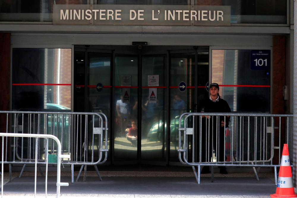 A general view shows the judiciary police offices in Nanterre, where Michel Platini is detained.