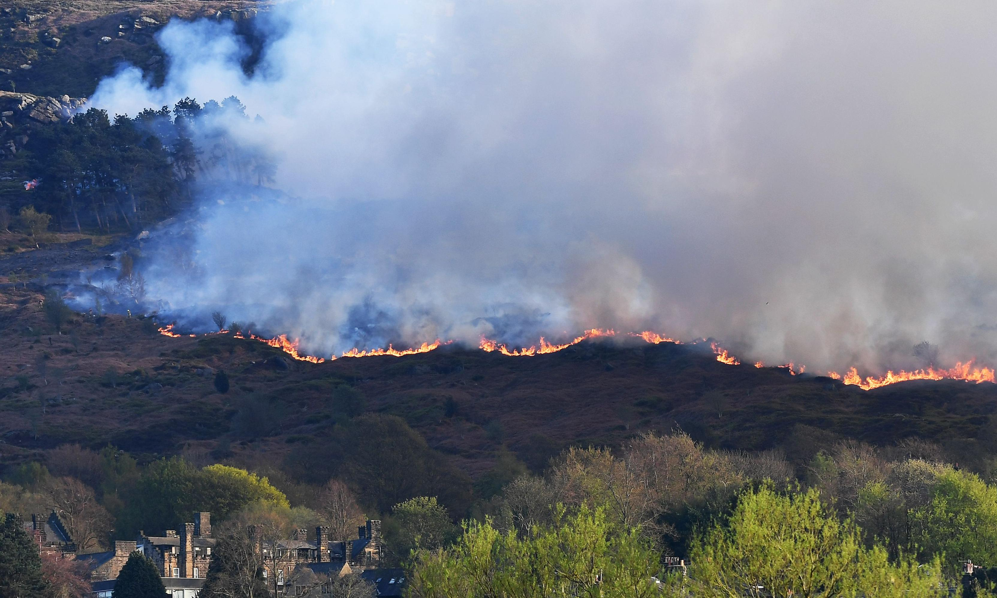 Arrests made over fire on Ilkley Moor in Yorkshire