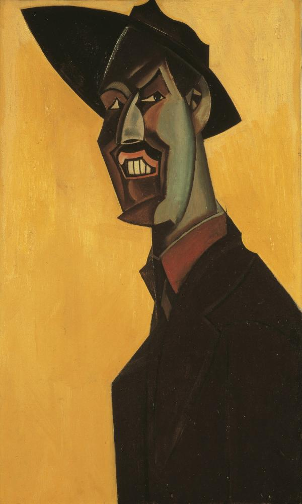 The 1921 self-portrait Mr Wyndham Lewis As a Tyro.