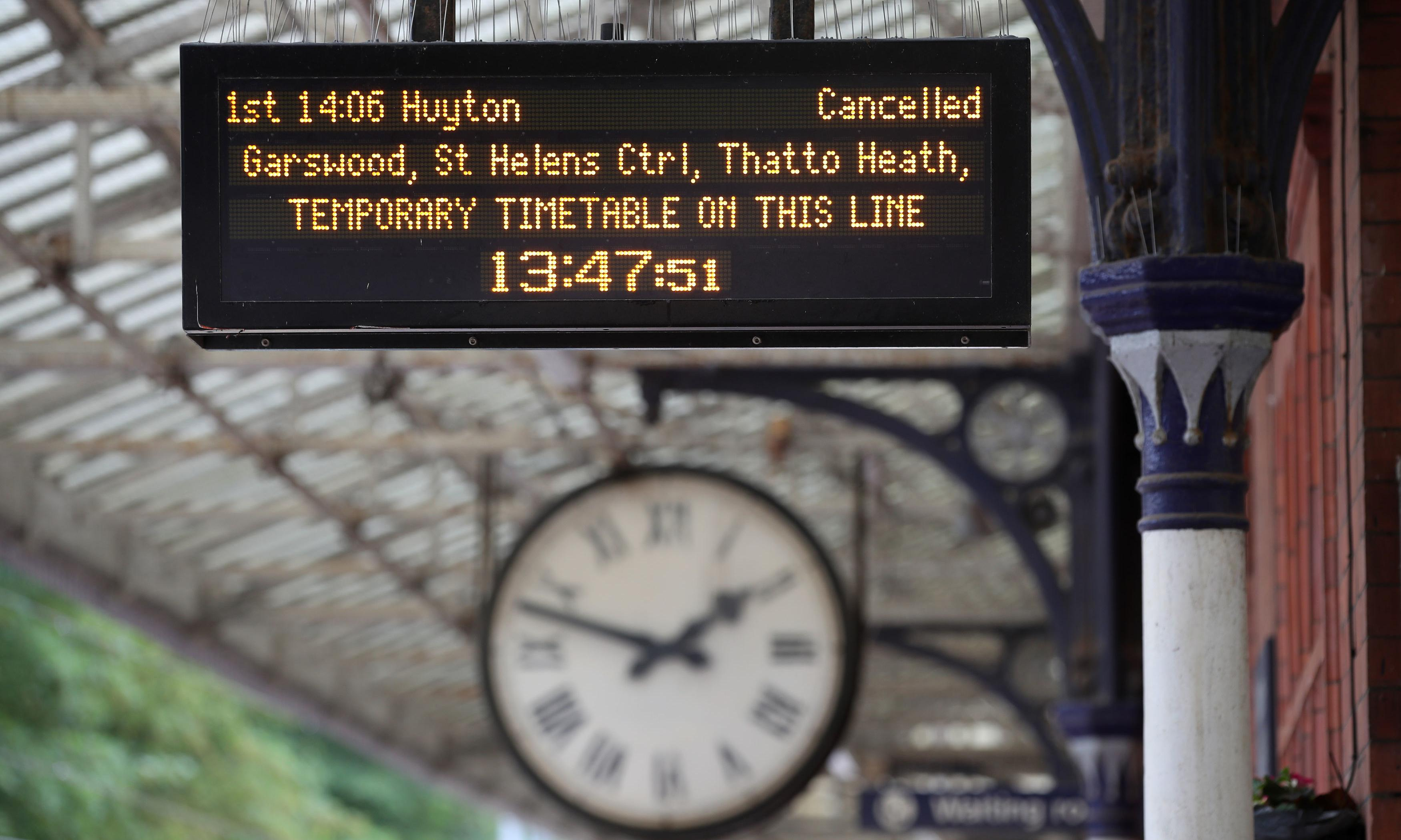 Rail timetable changes come into effect as industry reels from annus horribilis