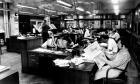 The Guardian newsroom in the 1970s