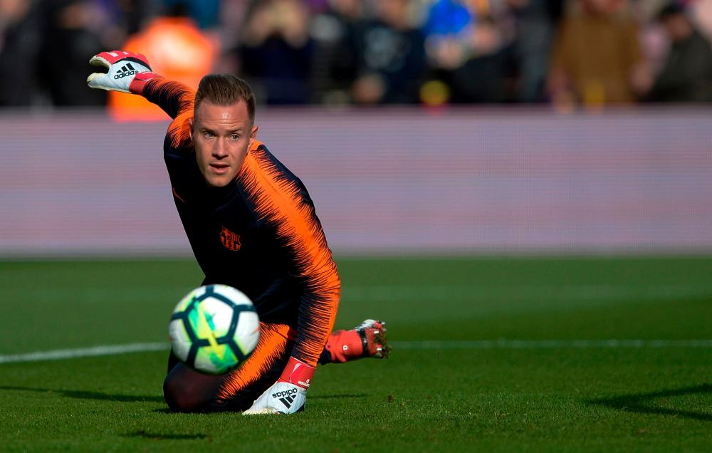 Barcelona's German goalkeeper Marc-Andre Ter Stegen has been impressive at the back so far