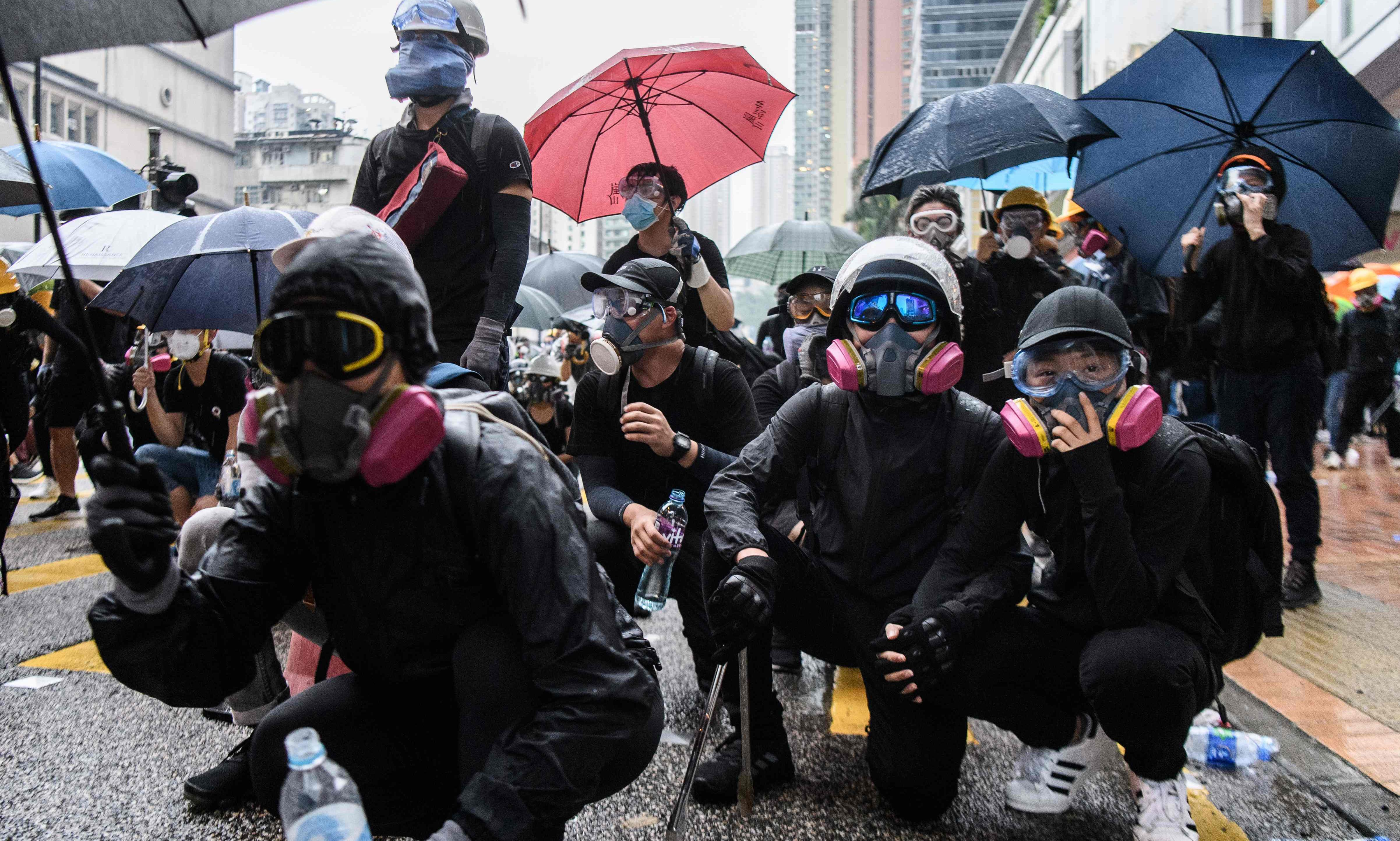 Hong Kong's 'be water' protests leave China casting about for an enemy