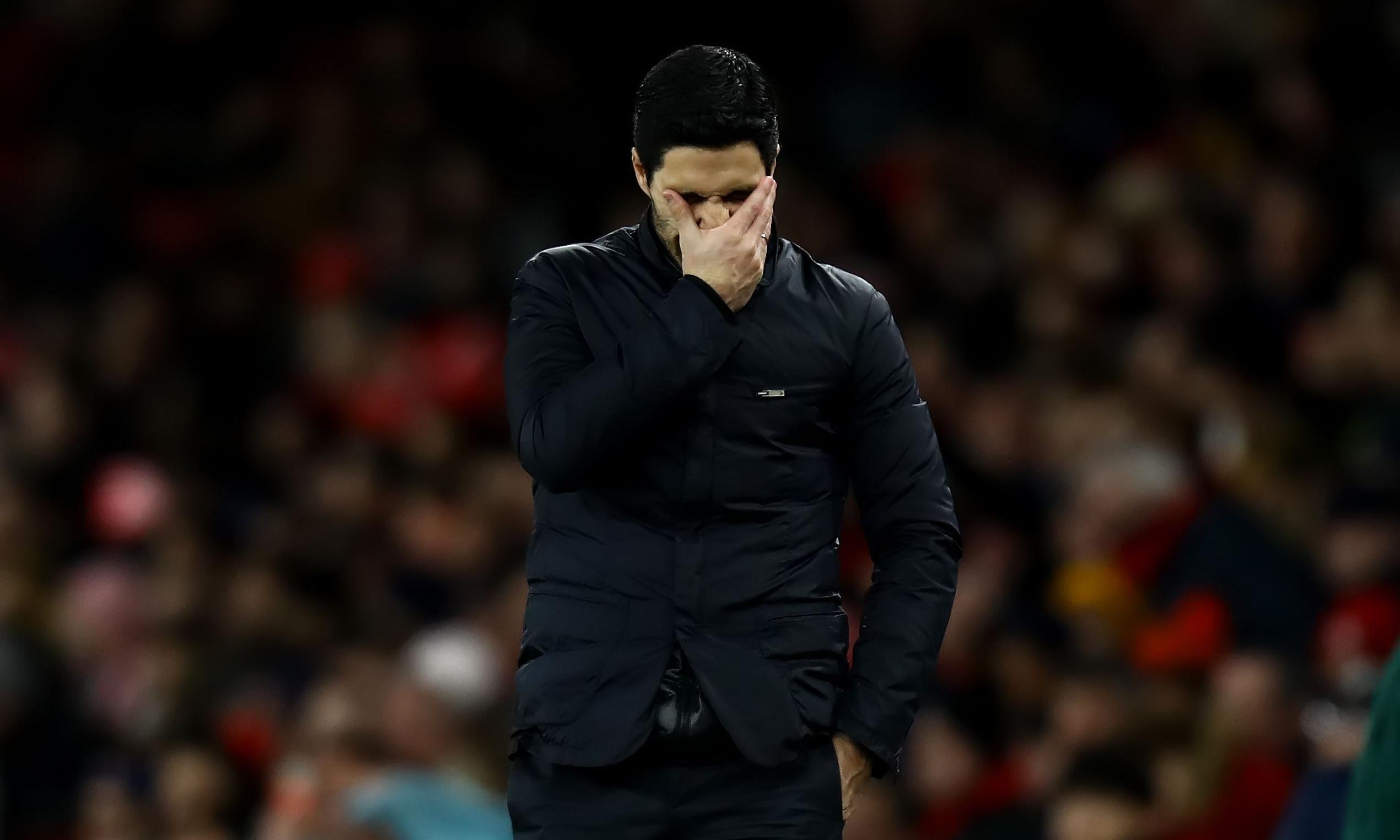 'It hurts': Arteta admits pain of Arsenal's Europa League exit against Olympiakos