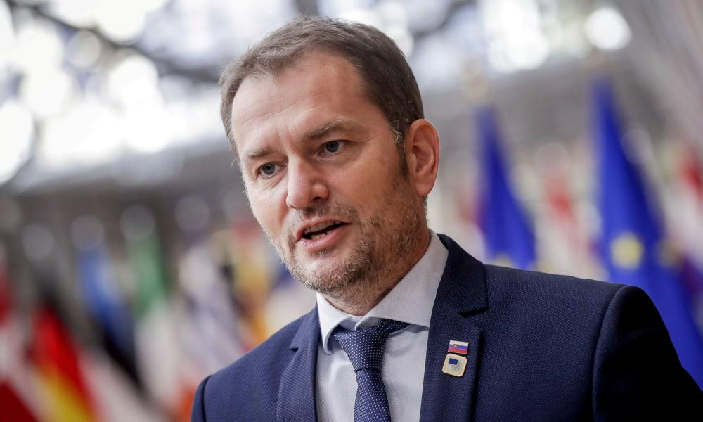 Slovak prime minister Igor Matovic in October.