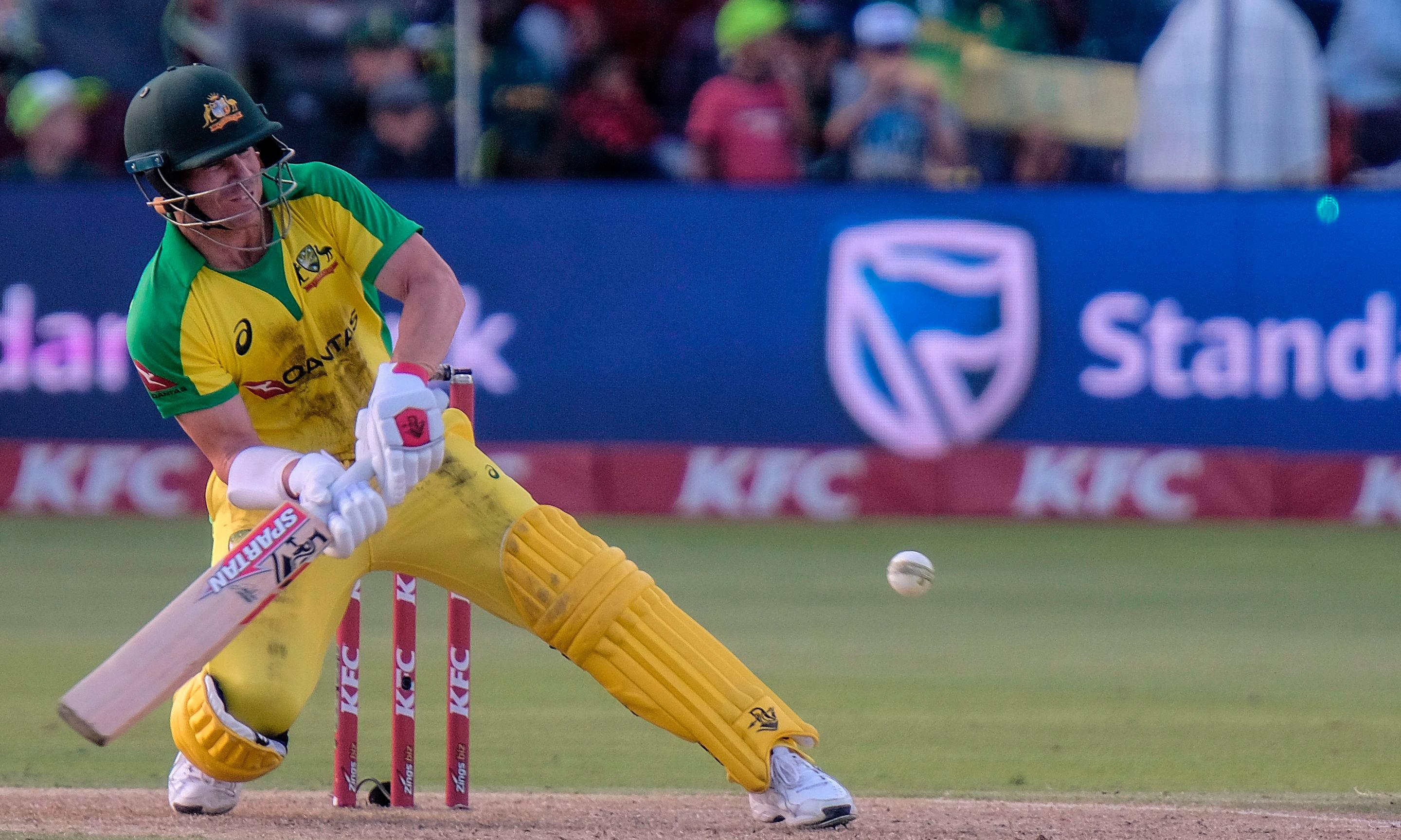 David Warner last man standing as Australia collapse in South Africa T20 defeat