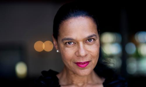 Pauline Black, the singer of 2-toneband, The Selector.  Photograph by Sarah Lee