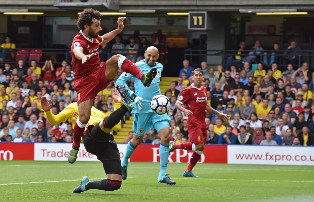 Mohamed Salah strikes from close range.