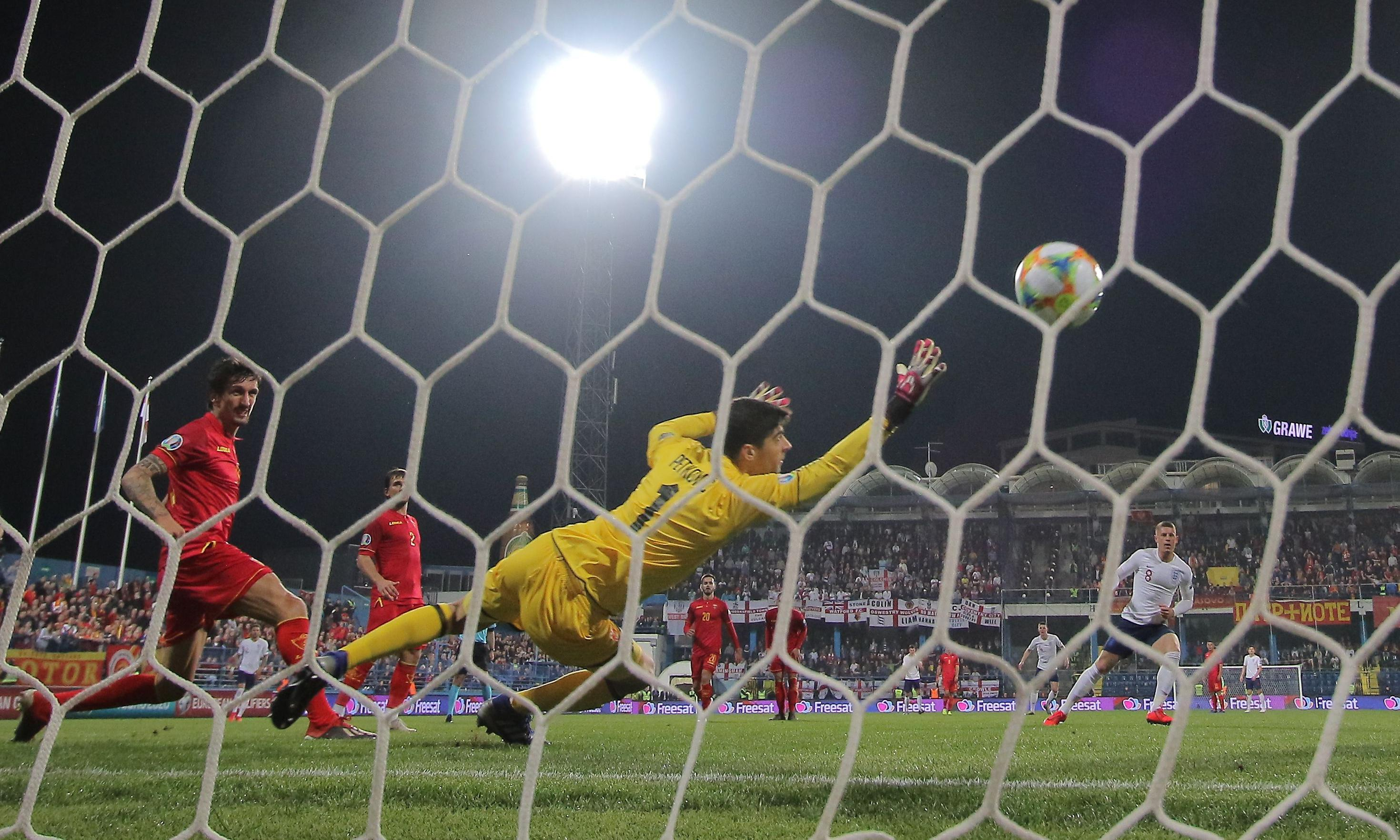England put five past Montenegro but win marred by racial abuse from stands