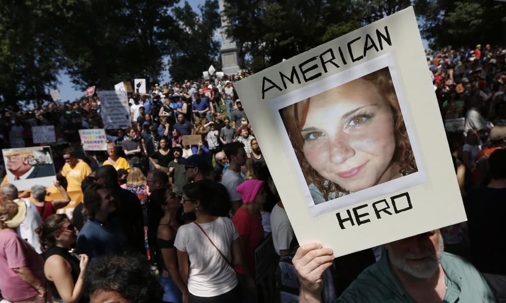 An image of Heather Heyer, who was killed in Charlottesville, Virginia in 2017 while protesting against a far-right rally.