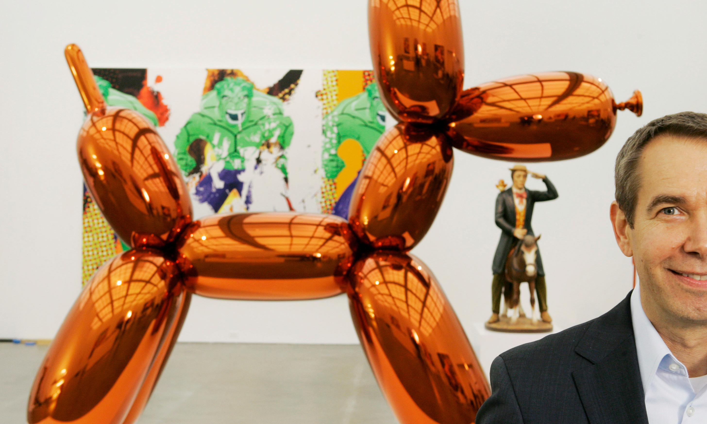 'Wow, $91m!' – Jeff Koons on blowup dogs, record prices and his row with Paris