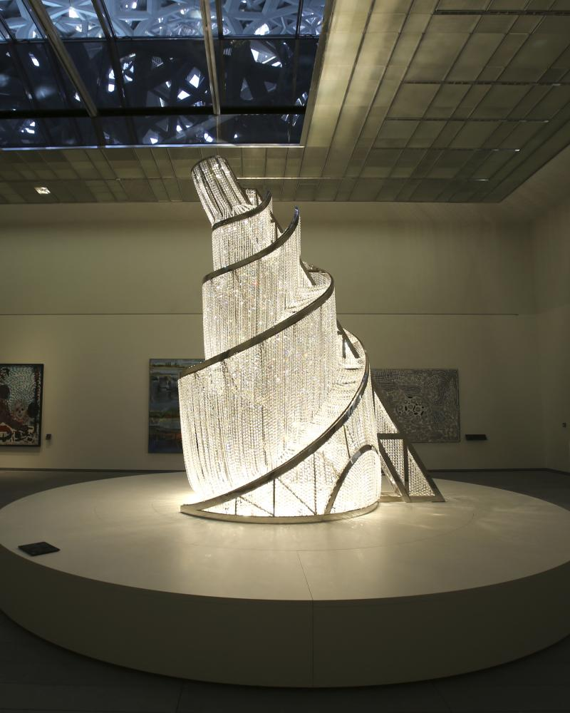 Towering figures … Fountain of Light by Ai Weiwei.