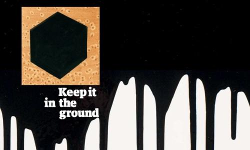 Keep it in the ground - divestment campaign.
