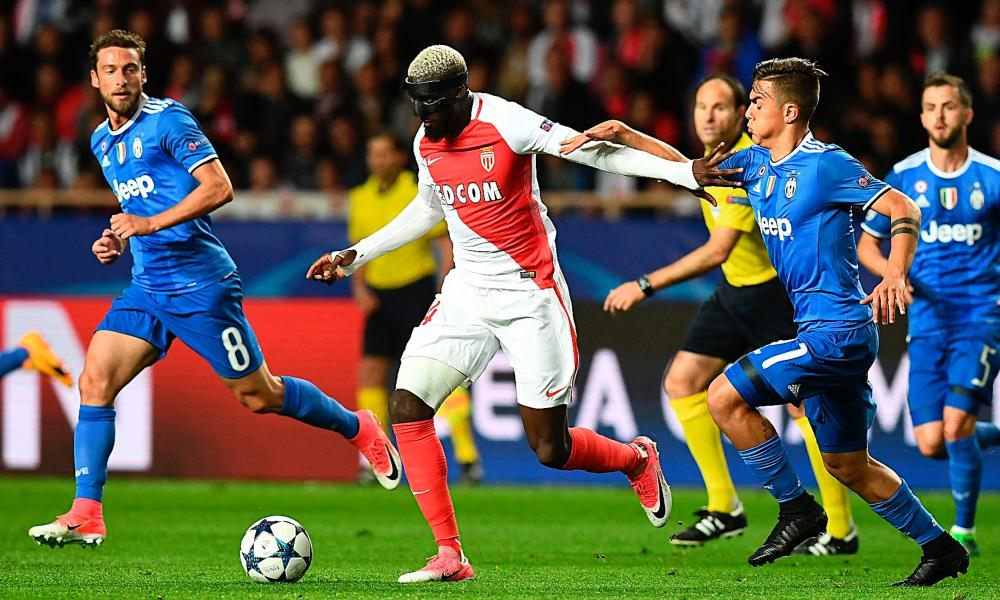 Tiémoué Bakayoko, in action for Monaco against Juventus, can stomp or glide through top-class midfields.
