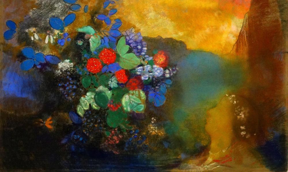 Ophelia among the Flowers, by Odilon Redon