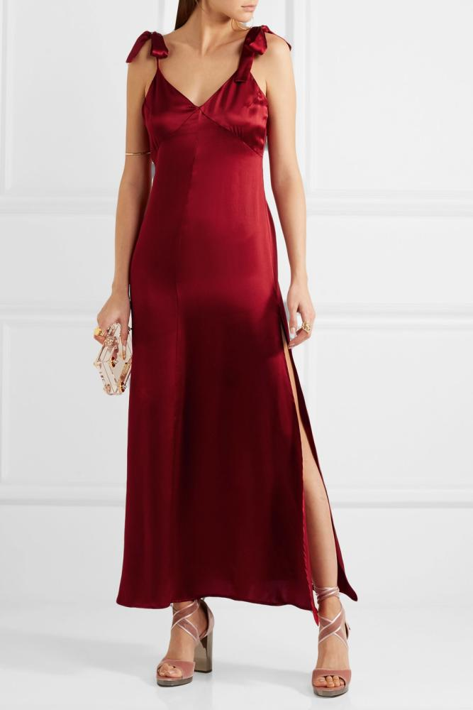 Net-A-Porter Reformation Silk maxi dress