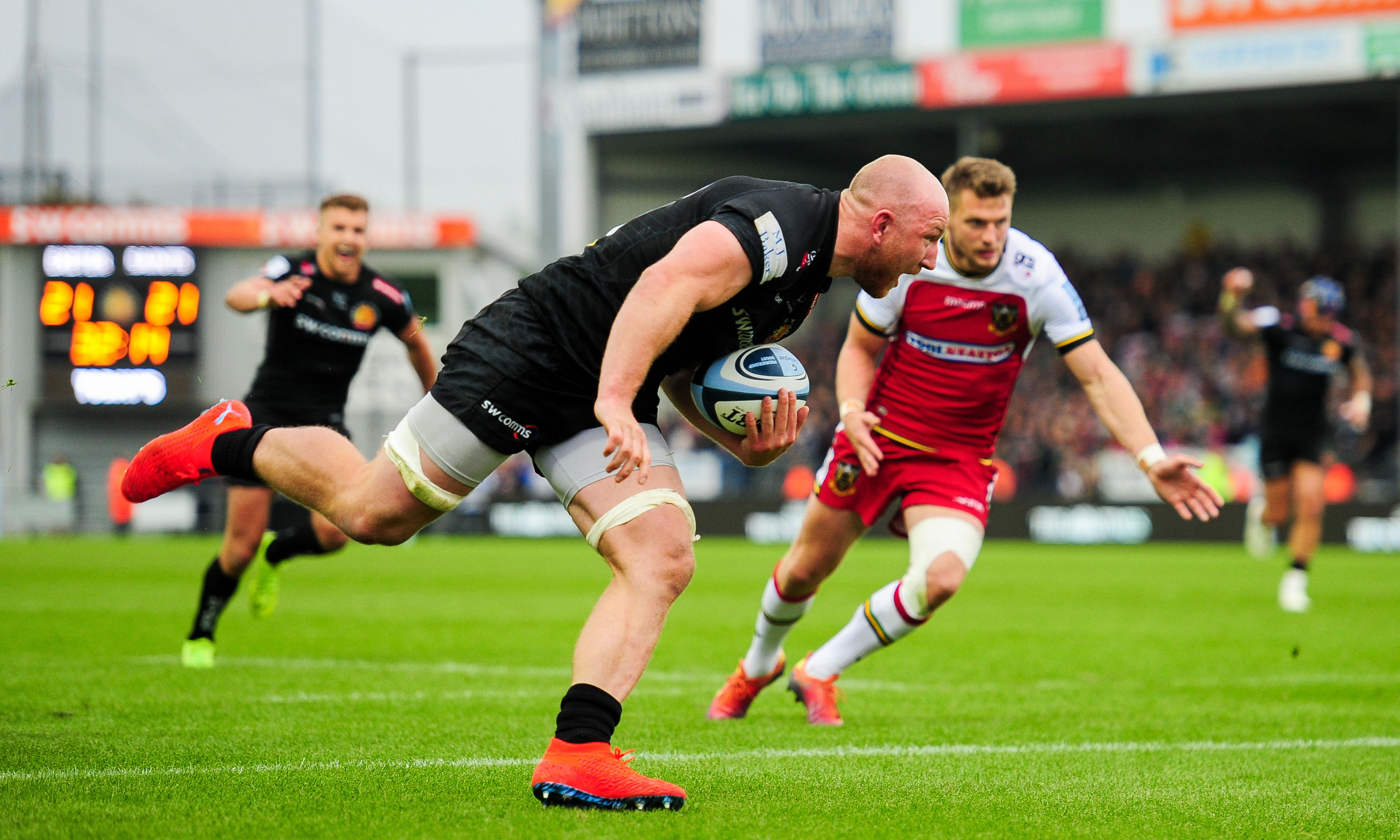 Northampton hang on to play-off spot despite collapse at dominant Exeter