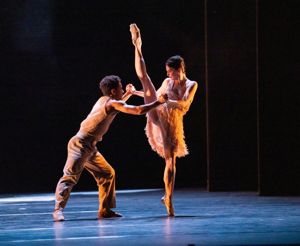 Intriguing glimpse … Marcelino Sambé and Natalia Osipova in Kyle Abraham's piece.