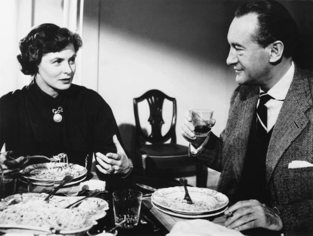 ingrid bergman with george sanders in journey to italy