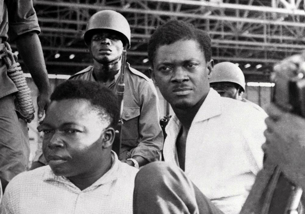 Patrice Lumumba, right, the prime minister of then Congo-Kinshasa. He was murdered within two months of Armstrong's tour.