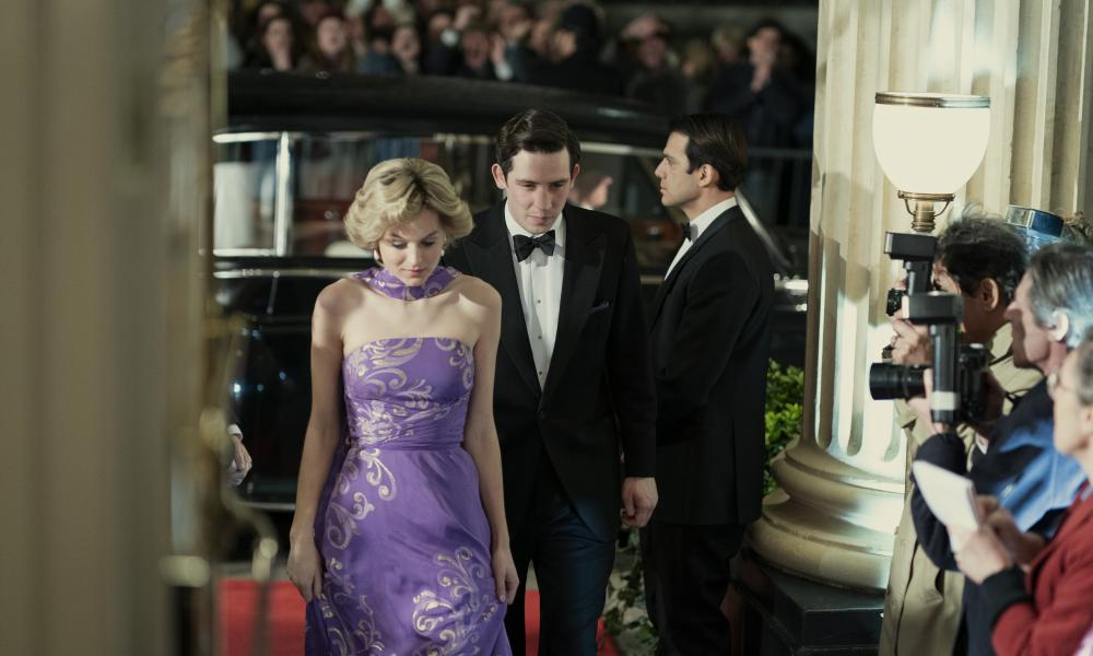 Emma Corrin and Josh O'Connor as Diana and Charles in The Crown.