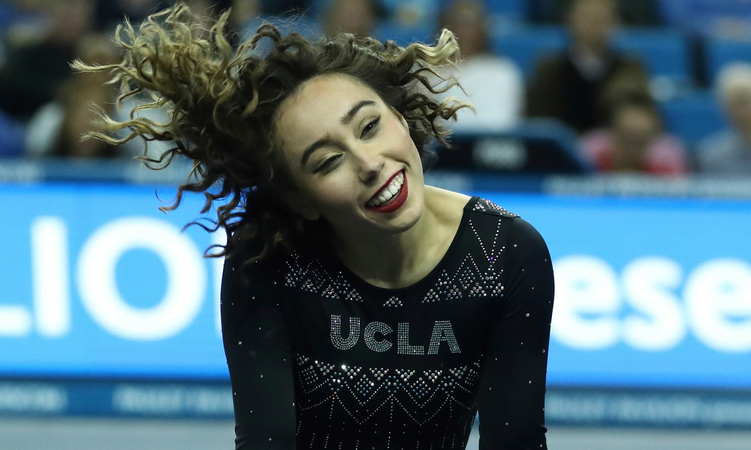 Katelyn Ohashi proves smiling can be a serious asset to elite athletes