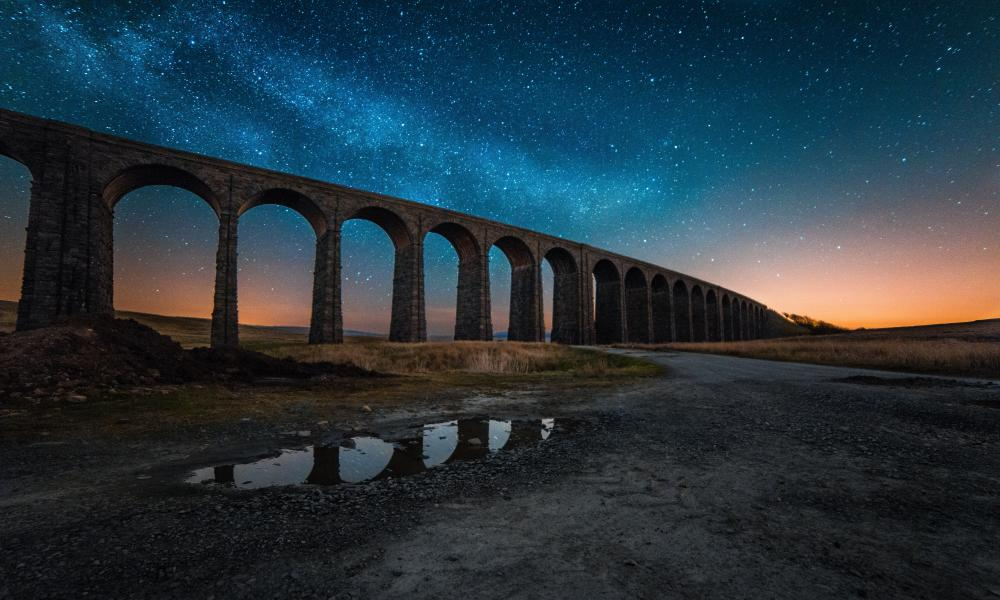 Ribblehead viaduct in the Yorkshire Dales national park.