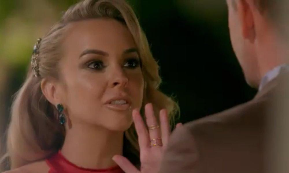 Angie Kent tells off Noosa councillor Jess Glasgow before ejecting him from the 2019 season of The Bachelorette.