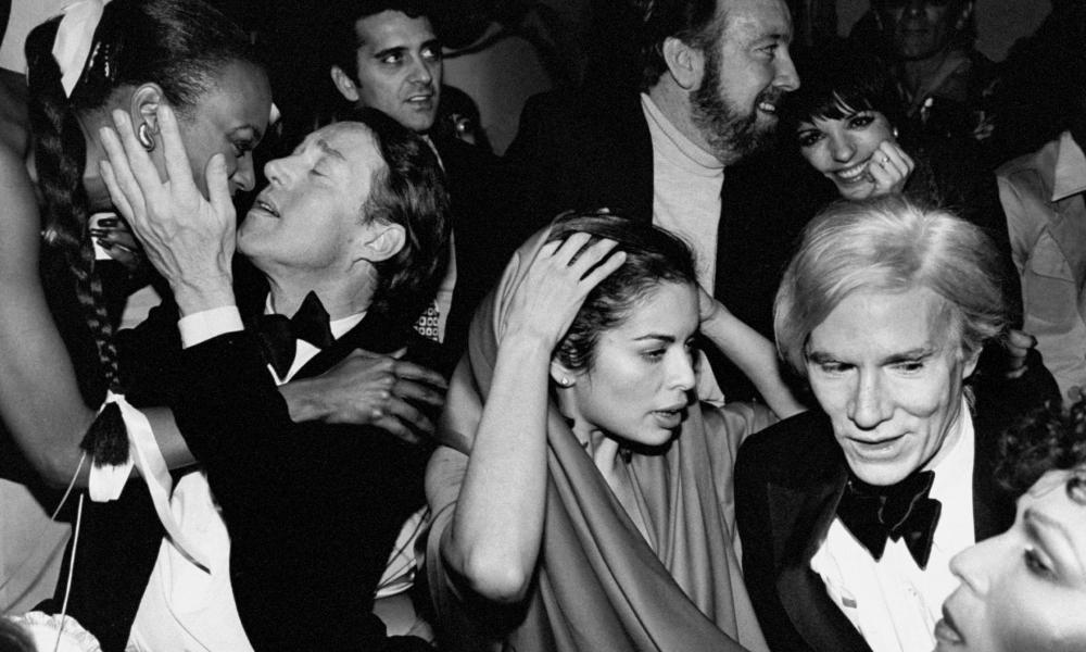 A New Year's Eve party at Studio 54 attended by Halston, Bianca Jagger, Jack Haley Jr, Liza Minnelli and Andy Warhol.