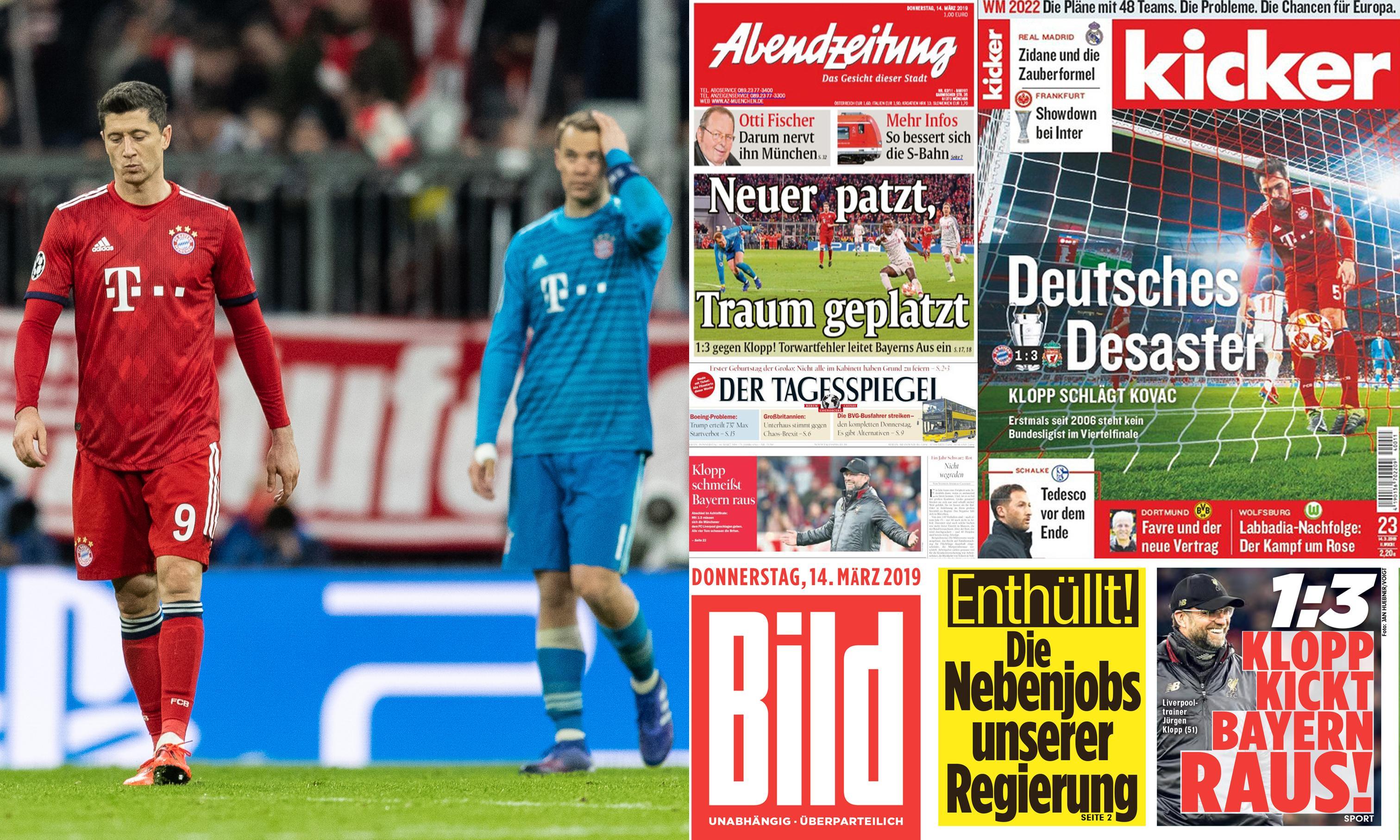 'No plan, no courage' – German press lays into Bayern after Liverpool loss