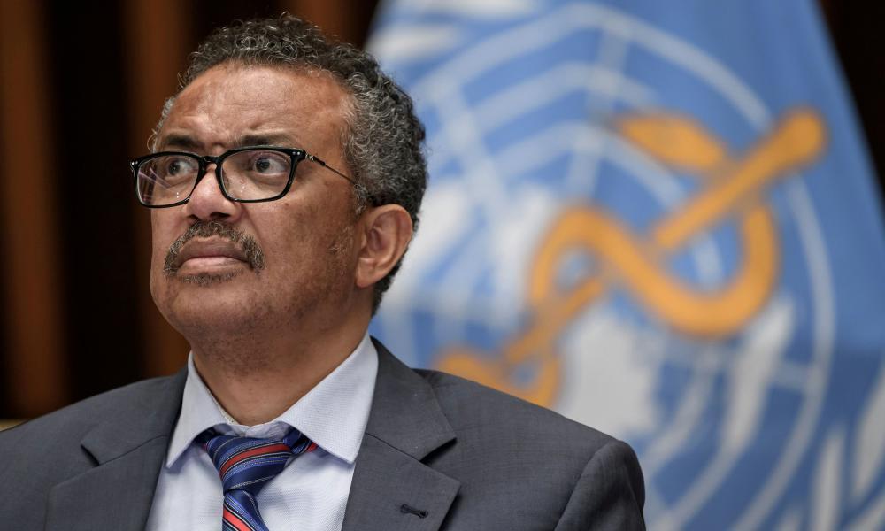 World Health Organization Director-General Tedros Adhanom Ghebreyesus at a news conference in Switzerland last week.